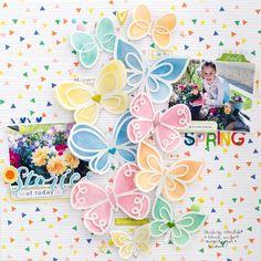 Spring Stories layout by Bea Valint using Pinkfresh Studio