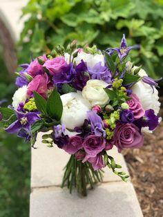 Purple, lavender and white bridal bouquet - Floral Artistry