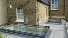 We helped a client with a flat roof skylight replacement when they moved into their new property and did not like the existing bulky skylights. House Extension Design, Roof Extension, Extension Ideas, Flat Roof Skylights, Roof Replacement Cost, Open Plan Kitchen Living Room, Roof Lantern, Basement Windows, Edwardian House