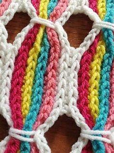 ::Candy Stick Blanket Crochet Pattern:: by Melinda Fogle