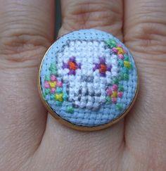 punto croce - teschio | cross stitch - skull