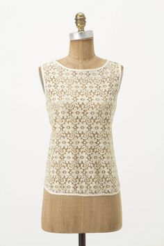 """Sheer lace, backed by petals of overlapping jersey. By Weston Wear.  - Cotton, nylon, rayon, spandex - Hand wash - 21.5""""L - USA"""