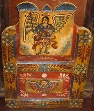 Mexican Folk Art - Rustic Retablo with Angel