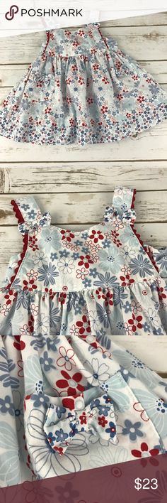 INFANTS Dress Set Adorable dress with pockets and tie back. Head scarf is included.  In like brand new condition.  52% cotton & 48% polyester. Blueberi Boulevard Dresses Casual