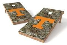 Tennessee Volunteers Single Cornhole Board - Realtree Max-1® Camo