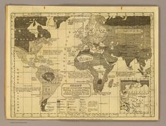 1824 Chart of the inhabited World; exhibiting the prevailing religion, form of government…