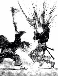 Hiroaki Samura Blade of the Immortal Manga Anime, Anime Art, Sad Anime, Anime Demon, Kawaii Anime, Manga Drawing, Manga Art, Comic Books Art, Comic Art