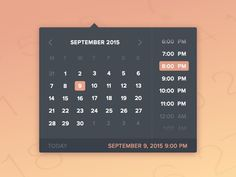 Little date & time picker with an attached .sketch file. :: snappy design though how to configure the minutes?