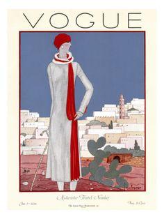 Vogue Cover - January 1926.