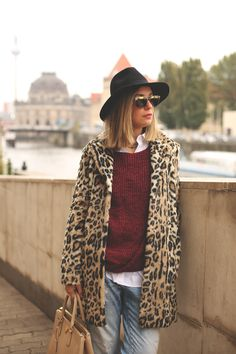 Priscila (My showroom blog) wearing coat and jumper by Pepe Jeans