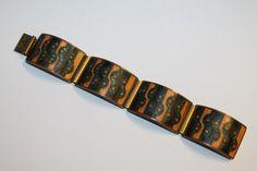 Email Mattemail Amband Vintage Emailschmuck Massiv - bracelet - 63,2 g ★ 512002
