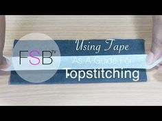 This is a why didnt I think of that!!! Great tutorial on How to use Tape As A Guide For Topstitching - YouTube