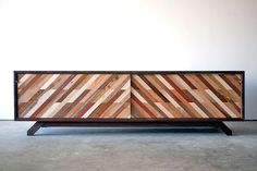 Custom Made Low Media Console - don't like the piece but LOVE the pattern