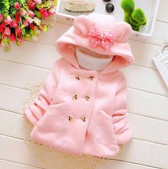 2016 Autumn Winter Baby Girls Sweet Long Sleeve Hooded Jackets Kids Infant Princess Outerwear Coats casaco ropa de ninas - Kid Shop Global - Kids & Baby Shop Online - baby & kids clothing, toys for baby & kid Baby Outfits, Toddler Girl Outfits, Kids Outfits, Baby Girl Jackets, Baby Girl Winter, Winter Kids, Spring Girl, 2016 Winter, Baby Shop Online