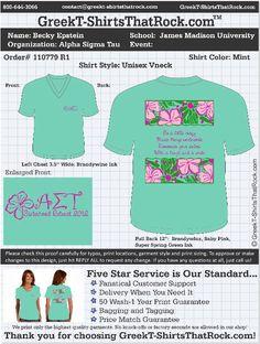 Pretty, tropical Alpha Sigma Tau shirt! http://www.greekt-shirtsthatrock.com/