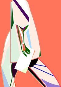 "Magnus Voll Mathiassen - Strolling ans Sweater - exhibition ""New Nordic Fashion Illustration Vol 2"" in Tallinn, Estonia  Tiphaine-illustration"
