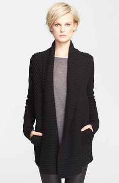$395 Gorgeous sweater. Vince Chevron Knit Shawl Lapel Cardigan | Nordstrom