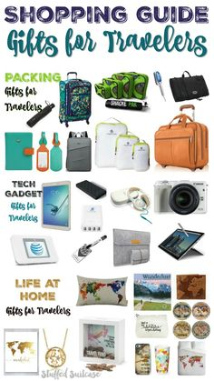 Shopping for a friend or family member who loves to travel? Check out this list of awesome gifts for travelers featuring travel gadgets, packing tips, and home decor!
