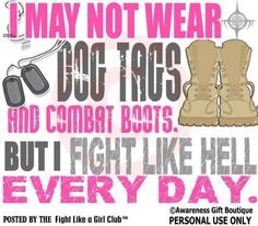 Fight like a Girl. Endo awareness. Everyday.. and I will continue too fight.  I won't lose my faith!
