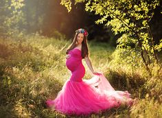 Celine Gown - Sweetheart Lace and Tulle Fitted Mermaid Style Maternity Gown