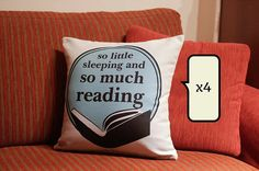 Set of 2 bookish decorative throw pillow cases cushions covers Gifts For Bookworms, Gifts For Readers, Book Lovers Gifts, Book Gifts, Gift Quotes, Book Quotes, Throw Pillow Cases, Decorative Throw Pillows, I Love Books