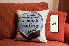 Book throw pillows