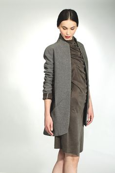 InAisce's wool and linen jacket and silk jersey dress.