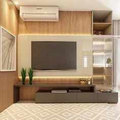 TV panel inspiration to enjoy a neutral atmosphere Tv Unit Furniture, Living Room Furniture, Living Room Decor, Furniture Design, Tv Wanddekor, Modern Tv Wall Units, Living Room Tv Unit Designs, Muebles Living, Tv Wall Design