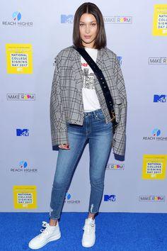 Bella Hadid Is Red-Hot in This Monochrome Look - HarpersBAZAAR.com