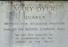 """Mary Dyer; I'm sure you're asking, """"who is this, and what does her death have to do with the BEAUTY of Boston?"""" The freedom-or-die attitude that founded our country was founded in Mary! She was banished by penalty of death, twice, for encouraging others to worship however they wanted. But, she rathered die than live with the guilt of letting some self-centered schmucks tell her what's right+wrong OR where+how to live. Screw the masses; justify your actions, but ALWAYS trust your heart! ♥"""