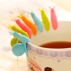 Herramientas de cocina Pequeño Caracol Reconocedor Dispositivo de Infusión de Té Taza De Té Colgando Bolsa de Color Al Azar