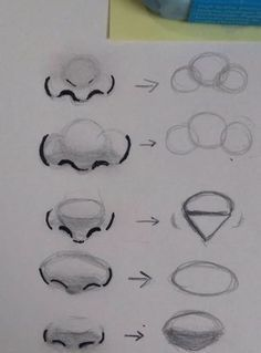 Different nose shapes. - - Christmasen -Different nose shapes. – Different nose shapes. Pencil Art Drawings, Art Drawings Sketches, Cool Drawings, Simple Drawings, Sketch Art, Anime Sketch, Easy Realistic Drawings, Sketch Nose, Super Easy Drawings