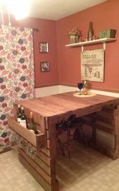 Made this table from pallets