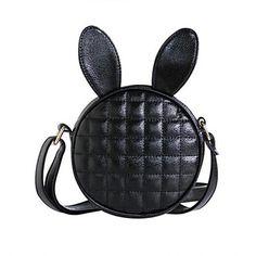 pu saco do estilingue bolsa de ombro / cosméticos saco das mulheres - verde / preto – BRL R$ 45,68