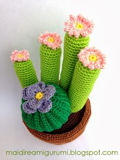 Mai Dire Amigurumi: Cactus ... tutto cotone!