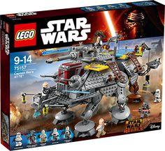 LEGO STAR WARS 75157 Kaptajn Rex's AT-TE Imperiets inkvisitor Fifth Brother og hans stormtrooper-makker prøver at borde og overtage kaptajnRex's modificerede AT-TE! Den gamle AT-TE syner måske ikke af meget, men den har kraner, stiger og tagmonteret skyder! Hjælp Rex og hans klonvenner, kommandør Gregor og kommandør Wolffe, med at holde deres fjender fra Imperiet stangen, så længe det er nødvendigt.