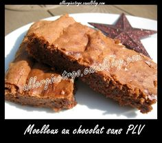 Moelleux au chocolat sans PLV allergieetrgo
