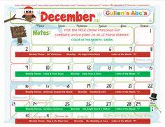 FREE Online Preschool December 2012 Theme Calendar      http://online-preschool.cullensabcs.com/