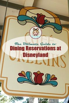 Dining Reservations are a MUST HAVE at a LOT of Disneyland Restaurants! Don't be left out in the cold!