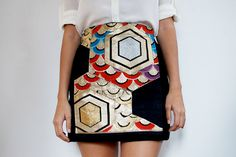 15 Fashionable DIY Skirt Ideas - Japanese Obi Panel Skirt