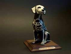 Ceramic dog skeleton  verry Day of the Dead  by MarketForTheCool, $59.00