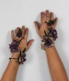 Lavender Wristlet Set, Fairy Bracelet, Floral Wrap, Wedding Accessory, Costume on Etsy, $64.05 AUD