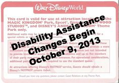 New Disability Access Service Card Program Launching at Disney Parks October 9th, 2013