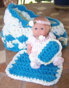 "So Cute! Cotton Doll Bed/Purse-For your 5"" Itty Bitty Dolls"