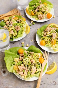 Lemon Pepper Salmon and Zucchini Noodle Salad Cups from afarmgirlsdabbles.com   #salmon #seafood #lunch #ideas #cook