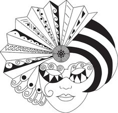 mask23 - Zentangle like - zentangle inspired - zentangle patterns - #zetangle