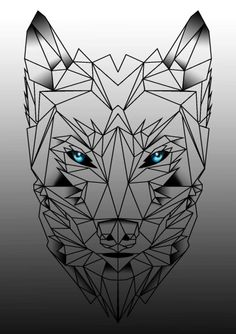 1000 Ideas About Geometric Wolf Tattoo On Pinterest