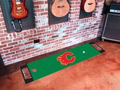 NHL Officially licensed products Tampa Bay Lightning Putting Green Mat Become a pro and perfect your short game with Golf Putting Mats from Sports Lic Golf Putting Green, Entry Mats, Kitchen Area Rugs, Green Mat, Custom Mats, Iowa Hawkeyes, Vancouver Canucks, Denver Nuggets, Dallas Mavericks