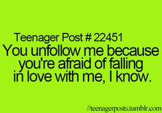 The truth about Social Media & unfollows (4) Tumblr
