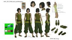 avatar & legend of korra news: watch season 4 Korra Avatar, Team Avatar, Character Model Sheet, Character Modeling, Character Design Animation, Female Character Design, Sasameki Koto, Avatar Cosplay, The Last Avatar